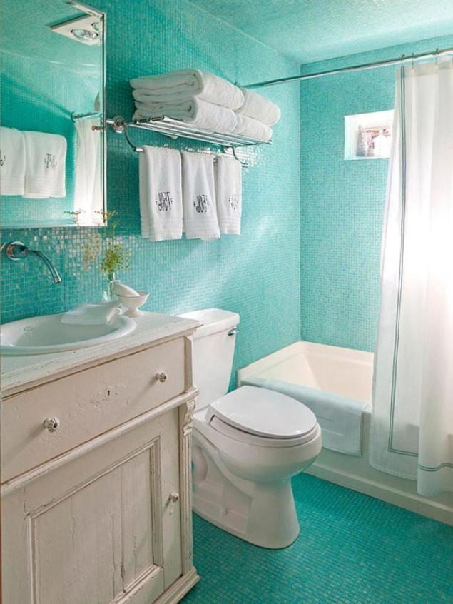 bathroom-enchanting-green-blue-bathroom-decoration-using-turquoise-mosaic-tile-bathroom-wall-along-with-birch-wood-3-drawer-bathroom-vanity-and-plain-white-plastic-bathtub-curtain-fascinating-ideas-fo