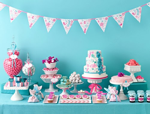 lush-fab-glam.com pink and turquoise blue wedding and party decor ideas 1 (16)