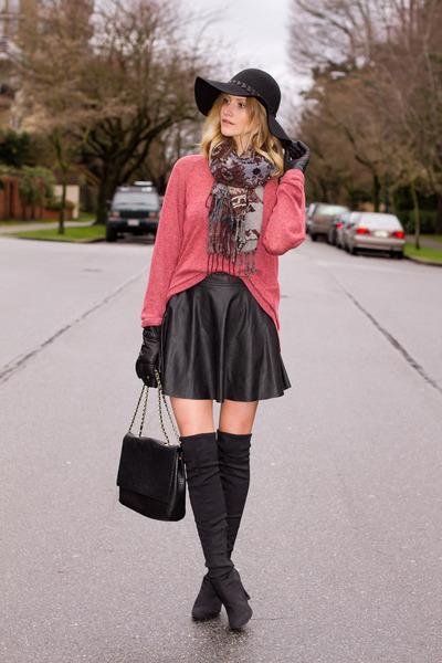 black-nine-west-boots-black-zara-hat-coral-cotton-on-sweater_400